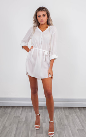 CHIFFON BLOUSE (WHITE) by Lucy Sparks