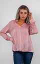 STRIPED CHIFFON BLOUSE (PINK) by Lucy Sparks