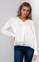 STRIPED CHIFFON BLOUSE (WHITE) by Lucy Sparks