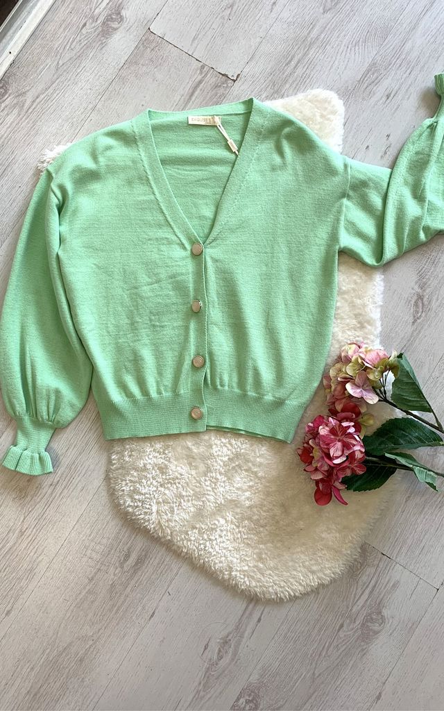 Pastel green cardigan by Unscripted