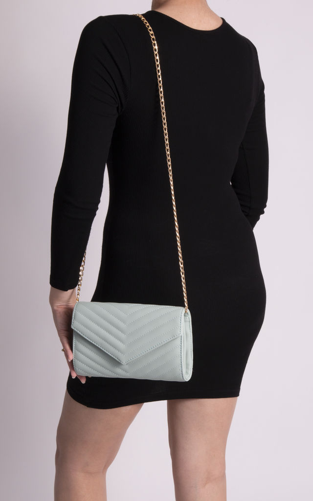 Aria Mint Quilted Shoulder Bag by KoKo Couture