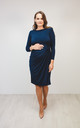 Maternity & Beyond dress classic shift navy blue long sleeves by Perfect Dress Company