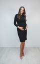 Maternity & Beyond dress classic shift black long sleeves by Perfect Dress Company