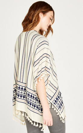 Cream Tribal Printed Cover Up by APRICOT