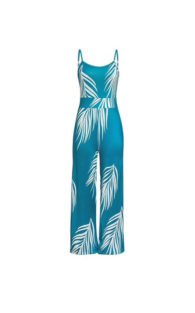 Tropicana turquoise summer jumpsuit by AMO