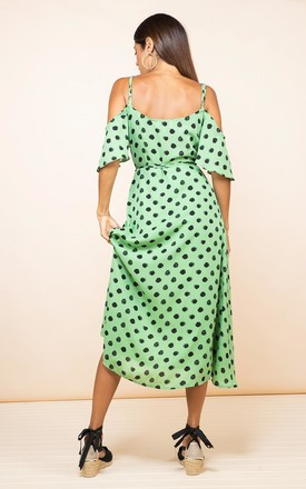 Ivy Dress Green Dotty by Dancing Leopard