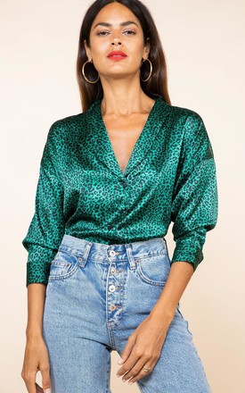 Monte Carlo Shirt In Small Green Leopard by Dancing Leopard Product photo