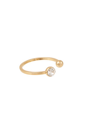 Open top circle gold ring by DOSE of ROSE