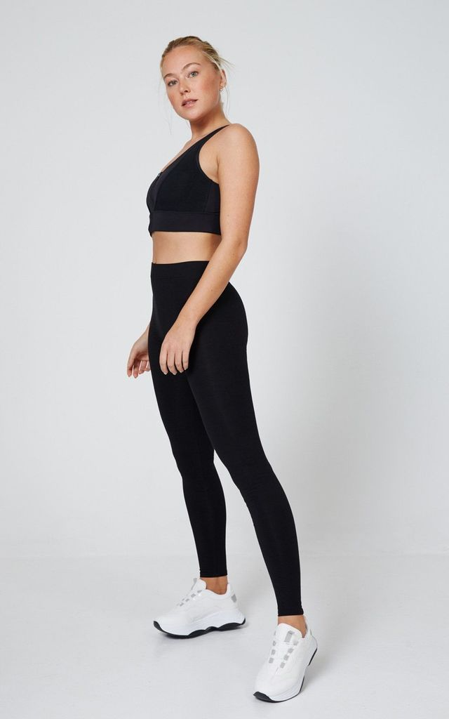 Black Classic High Waisted Leggings by fasheon