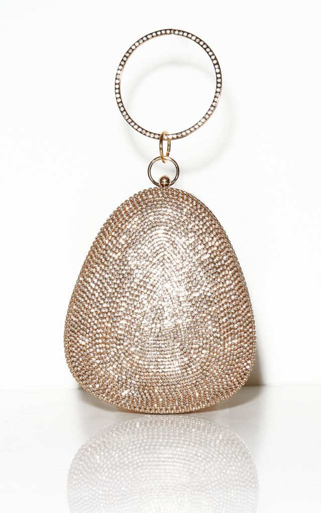 High Budget Crystal Clutch - Champagne by Broke & Beautiful