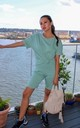 Mint Green Top and Cycling Shorts Co ord Lounge set by GIGILAND