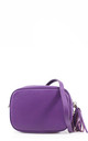Purple real leather shoulder clutch bag by Hello Handbag