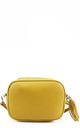 Yellow real leather shoulder clutch bag by Hello Handbag