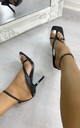 Kendall Strappy High Heels in Black by IKRUSH