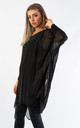 SILK OVER SIZED TOP (BLACK) by Lucy Sparks