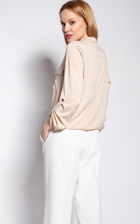 Jacket fastened with snaps - beige by Lanti