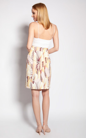 Fitted skirt - abstract leaves by Lanti