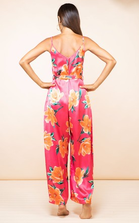 Gabriella Jumpsuit in Red Base Tulip by Dancing Leopard