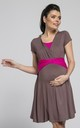 Maternity & Nursing Jersey Mini Dress in Cappucino Colour by Chelsea Clark