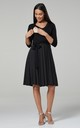 Maternity Skater Dress Black with Dots 525 by Chelsea Clark