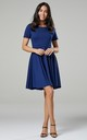 Maternity & Nursing Swing Dress in Blue Grey by Chelsea Clark
