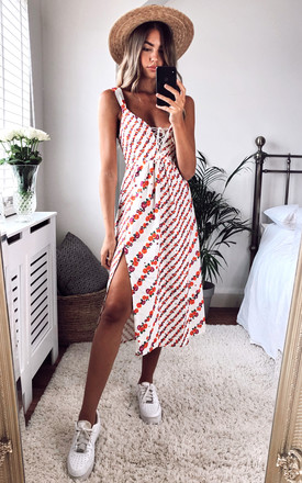 Georgia Summer Midi Dress In Mixed Floral by For Love And Lemons Product photo