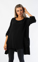 OVERSIZED TOP WITH MESH POCKETS (BLACK) by Lucy Sparks