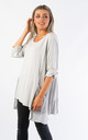 OVERSIZED TOP WITH MESH POCKETS (GREY) by Lucy Sparks