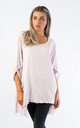 OVERSIZED TOP WITH MESH POCKETS (PINK) by Lucy Sparks
