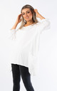 OVERSIZED TOP WITH MESH POCKETS (WHITE) by Lucy Sparks