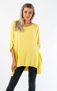 OVERSIZED TOP WITH MESH POCKETS (YELLOW) by Lucy Sparks