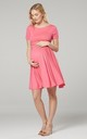 Maternity & Nursing Swing Dress in Coral by Chelsea Clark