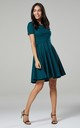Maternity & Nursing Swing Dress in Dark Green by Chelsea Clark