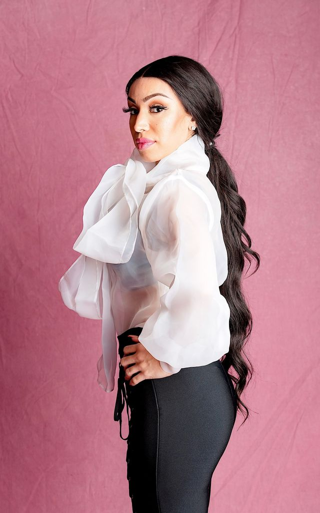 CHELSEA WHITE  ORGANZA DRAMATIC BOW BLOUSE by IVY EKONG FASHION