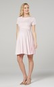 Maternity & Nursing Swing Dress in Powder Pink by Chelsea Clark