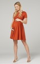 Maternity & Nursing Swing Dress in Rust Colour by Chelsea Clark