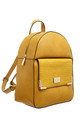 CROC PRINT FRONT POCKET BACKPACK YELLOW by BESSIE LONDON