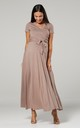 Maternity & Nursing Maxi Dress in Cappucino Color 599 by Chelsea Clark