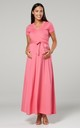 Maternity & Nursing Maxi Dress in Coral Color 599 by Chelsea Clark