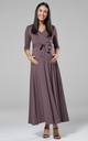 Maternity & Nursing Layered Maxi Dress in Cappucino Color 608 by Chelsea Clark