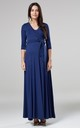 Maternity & Nursing Layered Maxi Dress in Navy Color 608 by Chelsea Clark