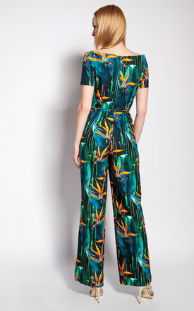 Jumpsuit with a carmen neckline - bamboo by Lanti