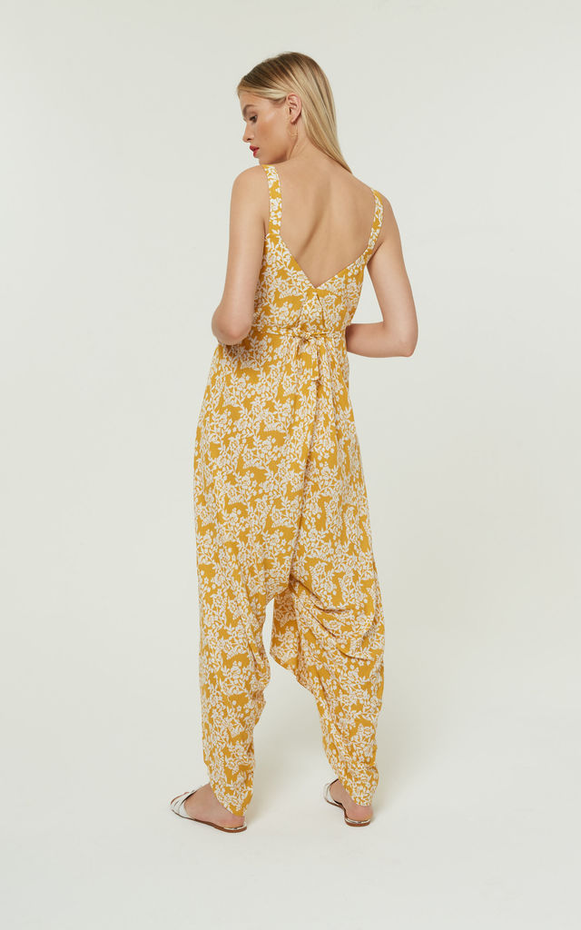 Splisse3 Wide Leg Jumpsuit Yellow by Jovonna London
