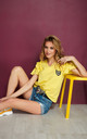 Comfy Top with Decorative Patch in Yellow by Makadamia
