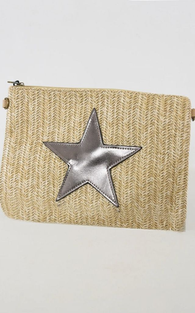 Rose Gold Faux Leather Star Straw Bag by Nautical and Nice Ltd
