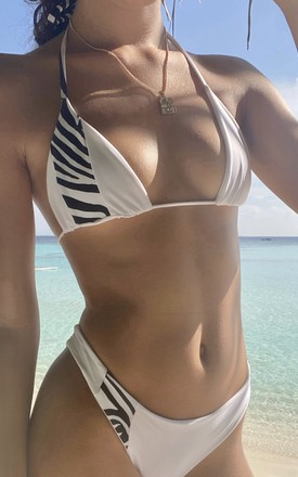 WILD White and Zebra Bikini by NARDI Swim
