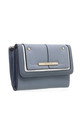 TWO TONE FLAP-OVER PURSE by BESSIE LONDON