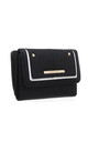 TWO TONE FLAP-OVER PURSE BLACK by BESSIE LONDON