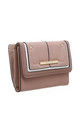 TWO TONE FLAP-OVER PURSE PINK by BESSIE LONDON
