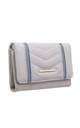 QUILTED TWO TONE FLAP-OVER PURSE GREY by BESSIE LONDON